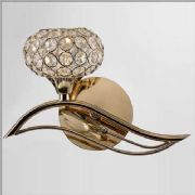 Leimo Wall Light in French Gold and Crystal, Switched - DIYAS IL30961/L